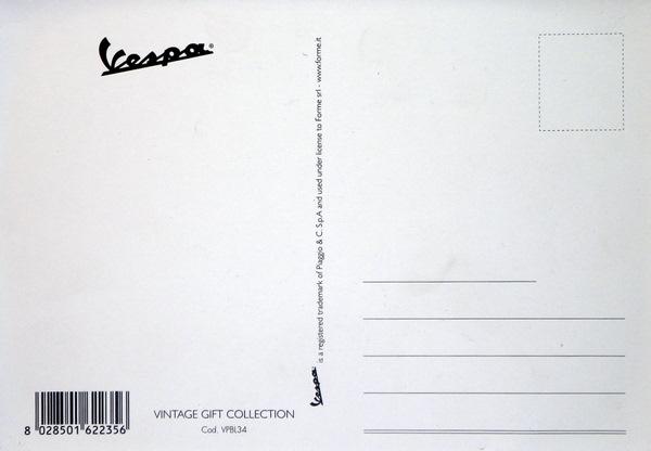 Blechpostkarte Vespa