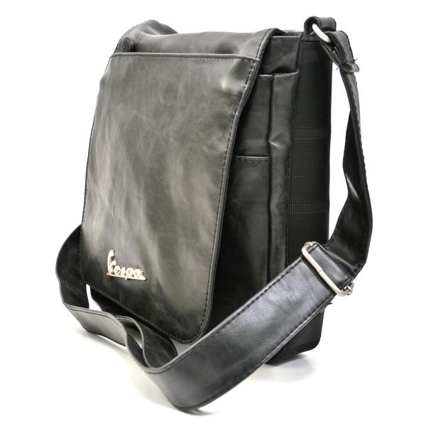 Vespa Schultertasche Forme Leder schwarz klein