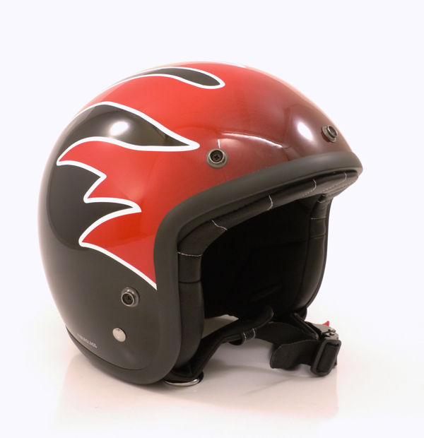 """Helm Project for Safety """"Black Racer"""" Flame"""